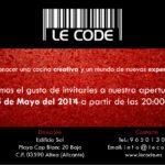Invitación LE CODE