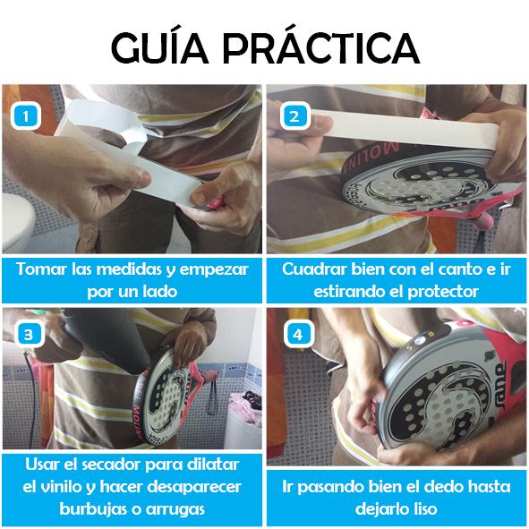 guia practica protector personalizados palas de padel