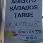 Carteleria exterior para Don Color en Gandia